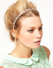 This crystal Aliceband from ASOS is amazing. It's part of the Charlotte Free Collection and I actually want it right this second. It's sparkly and girly and would go perfectly with any summer outfit. A pretty updo like the photo would be complimented by the Aliceband but you could also just give your hair some volume and pop the Aliceband on for a quick and easy look.