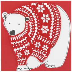 in with the new polarbear Christmas card from Paperchase