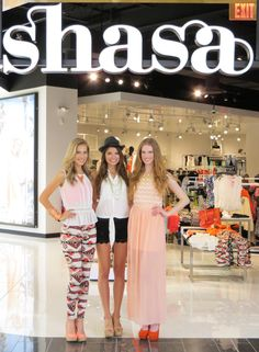 The Shasa Models at the front of the store getting ready to greet customers at the Tucson Mall Opening!