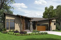 4 Bed Modern House Plan for the Sloping Lot - 23622JD   Contemporary, Modern, Northwest, 1st Floor Master Suite, Butler Walk-in Pantry, CAD Available, Den-Office-Library-Study, Media-Game-Home Theater, PDF, Sloping Lot   Architectural Designs