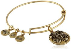 Alex and Ani Four Leaf Clover III Expandable Rafaelian Bangle Bracelet *** Learn more by visiting the image link. (This is an affiliate link and I receive a commission for the sales)