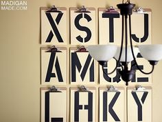 Looking for a new accent wall idea? Try this Typography DIY wall art   DunnDIY.com   #inspiration