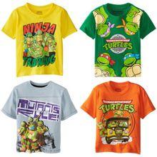 Tmnt Teenage Mutant Ninja Turtles crianças meninos Tops de verão de manga curta roupas 2 ~ 7Y(China (Mainland))