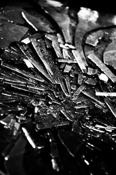 I just love the random shapes that are produced with broken glass