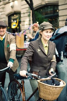 The Tweed Run is filled with inspiration. I love this woman's hat!