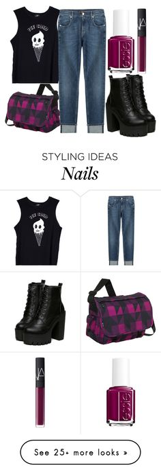 """""""Sans titre #294"""" by modebelongwithme2 on Polyvore featuring JWorld New York, Valfré, 7 For All Mankind, Essie and NARS Cosmetics"""
