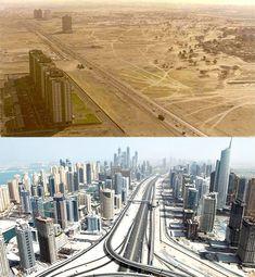 Lévolution des grandes villes autour du monde 02 evolution #dubai #uae