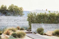 Visual Log of Projects / Work at Terremoto / A Landscape Office / LA + SF Califo. Visual Log of Pr Dry Garden, Garden Paths, Indoor Garden, Vegetable Garden, Modern Landscaping, Backyard Landscaping, Landscaping Ideas, Drought Tolerant Landscape, Garden Design Plans