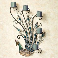Peacock Jewels Wall Candelabra Multi Cool