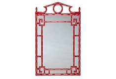 Pagoda Mirror, Chinese Red
