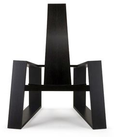 Jacob Marks has designed the Fade Armchair for the Hillsborough, North Carolina based furniture manufacturer Skram. Shown here is the chair in ebonized solid rift white oak.