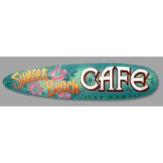 Sunset Beach Cafe - Surfboard Sign