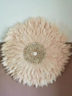 This is handmade with natural feathers and shell details creating a beautiful home addition. A juju hat in light pink will create a glam boho look. Fluffy feathers, a statement wallhanging which has tribal feels. shipping will be Flower Wall Backdrop, Wall Backdrops, Flower Wall Decor, Diy Wall Decor, Boho Diy, Boho Decor, Shop Interiors, Blue Interiors, Feather Wall Decor