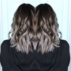 Steel gray hair // silver ombre More