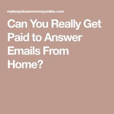 Can You Really Get Paid to Answer Emails From Home? Virtual Assistant Jobs, You Really, How To Apply, Canning, Diy, Bricolage, Do It Yourself, Home Canning, Homemade