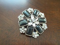 Turn of the Century Brooch Ebony and by SuzyQsVintageShop on Etsy, $8.00