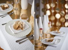 gold + white: elegant, festive, it says PARTY!