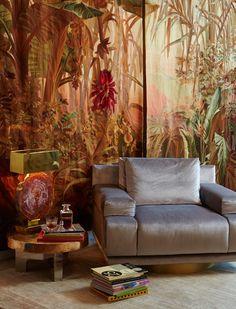 paire de tapisseries a décor exotique