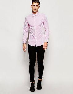 de02f91858 Camisa de corte slim a rayas bengala de Polo Ralph Lauren