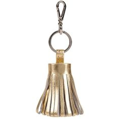 Ili Tassle Key Chain (18 AUD) ❤ liked on Polyvore featuring accessories, gold, fob key chain, gold key chain and ili