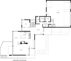 Modern home in Canada - First Floor Plan