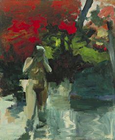 """Elmer Bischoff (1916-1991), Girl Wading, 1959. oil on canvas, 6' 10 5/8"""" x 67 ¾"""""""