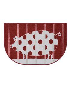 Look what I found on #zulily! Polka Pig Red Slice Rug #zulilyfinds