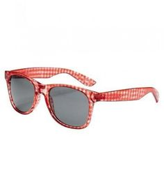 gingham print sunglasses
