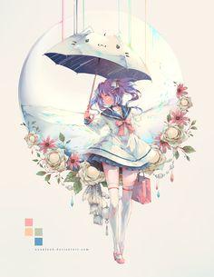 How to draw Manga and Anime Girls Anime, Anime Art Girl, Manga Girl, Anime Chibi, Kawaii Anime, Manga Anime, Kawaii Drawings, Art Drawings, Girls With Flowers