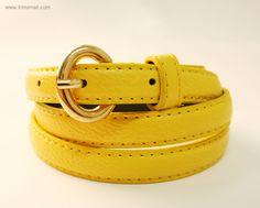 Yellow Skinny Belt Skinny Belt, Bff, Yellow, Leather, Accessories, Fashion, Moda, Fashion Styles, Fasion