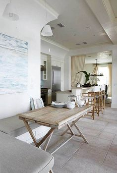 I stumbled on this house in Florida at Alys Beach. Amazing in person. This entire kitchen space opens onto a covered terrace and enclosed courtyard.
