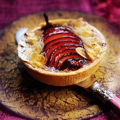 Chocolate tarts with mulled Pears recipe_ You don't need to be an expert to make these tasty chocolate tarts from master patissier Eric Lanlard. You just need a bit of patience and preparation.