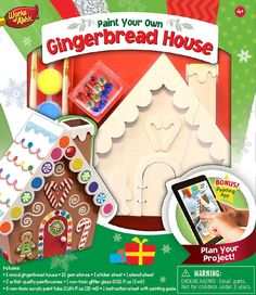 Gingerbread House - Wood Painting Kit
