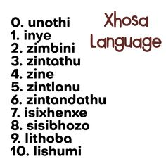Counting in Xhosa language spoken in South Africa and Lesotho (I remember always struggling with 'isixhenxe' in Xhosa class in primary school, threw me off whenever I counted) Crush Texts, Songs For Toddlers, Learn Another Language, Xhosa, Evolution T Shirt, Primary School, My Passion, School Projects, Classroom Management