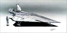 A slick Jedi StA slick Jedi Starfighter concept by Doug Chiang, created for…