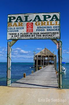 """Palapa Bar & Grill on Ambergris Caye, Belize. """"The over-the-water location offers some of the best views, and is a great place to interact with a nice mix of locals, other travelers ...."""""""