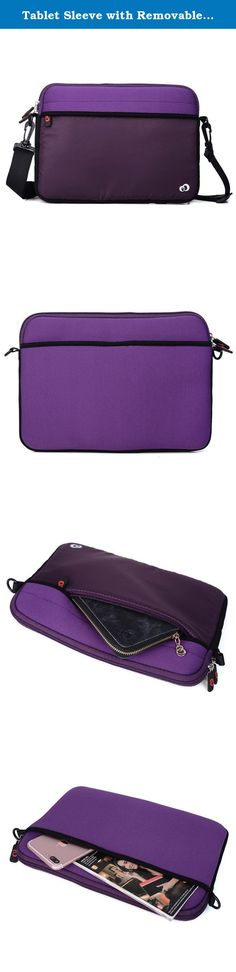 """Tablet Sleeve with Removable Strap Neoprene Case for Amazon Kindle Fire HD 10"""", Fire HD 8.9"""" Tablet (Bodacious Purple). Package includes 1 Kroo Scoop 2 Neoprene Sleeve that can be used as a slim messenger bag when travelling. It features a nylon zipper pocket for keys, smartphone, USB cable, flash drive, pens and internet card. A second velcro external pocket for Keyboard. Ideal for college students. Internal dimensions 11.5 x 8.1 x 1 inches. Full bag measures 11.83 x 8.3 x 1.7 inches..."""