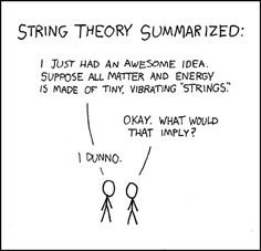 Pretty much my thoughts on string theory (or most quantum theories for that matter...)