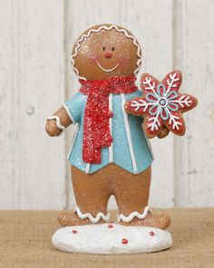 Christmas Candy Decoration Gingerbread Boy. shelley b home and holiday