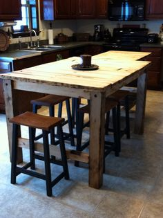 Kitchen Island 4 X 8 this 4 x 8 kitchen island looks great in it's new kitchen. it is