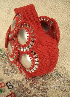 Bag with pop tabs   by Donnaraita