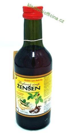 Bylinný fruktózový sirup ŽENŠEN 250 ml Klášterní officína Sauce Bottle, Soy Sauce, Food, Syrup, Meal, Essen, Soy Candle, Hoods, Meals