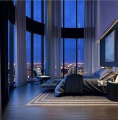 35 Recommended Luxury Bedroom Design Ideas - A number of interior designers have had successes from previous designs that capture the plain white room into something that can distract an owner de. Dream House Interior, Luxury Homes Dream Houses, Dream Home Design, House Design, Loft Design, Luxury Penthouse, Luxury Apartments, Home Decor Bedroom, Modern Bedroom