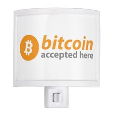 """Eye-catching """"Bitcoin Accepted Here"""" Light - eye catching gifts gift ideas cyo custom birthday presents"""