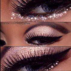 ..beautiful rose colored eye makeup