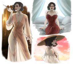 Game Character, Character Design, Resident Evil Vii, Evil Anime, Evil Art, Tall Women, Fan Art, Anime Couples, Art Girl