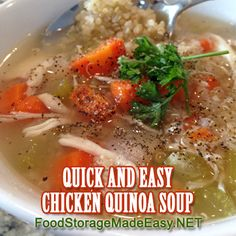 Fast and Easy Chicken Quinoa Soup