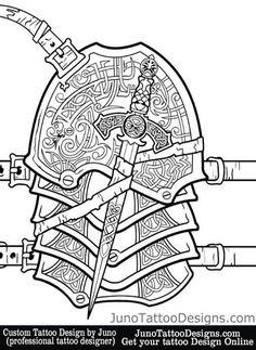 armor sleeve tattoo by JunoTattooDesigns - Custom tattoos online made to order - http://junotattoodesigns.com/                                                                                                                                                                                 Más