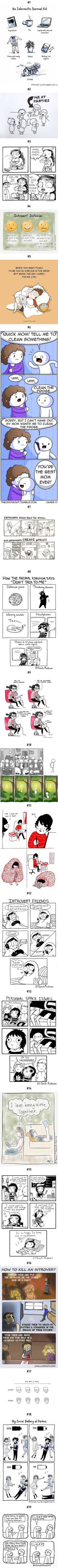 19 Comics Only Introverts Will Understand - 9GAG