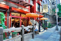 "Greenwich Village, NYC, often referred to by locals as simply ""the Village"", is a neighborhood on the west side of Lower Manhattan, New York City. Wikipedia #nycfeelings"